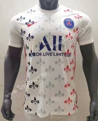 2021-2022 Paris SG White Thailand Training Soccer Jersey AAA-416