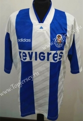 Retro Version 94-95 Porto Home Blue&White Thailand Soccer Jersey AAA-503