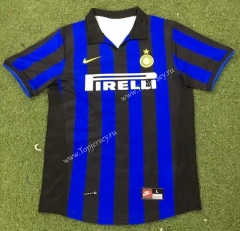 Retro Version 98-99 Inter Milan Home Blue&Black Thailand Soccer Jersey AAA-503