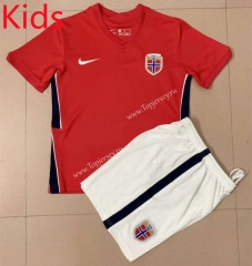 2021-2022 Norway Home Red Kids/Youth Soccer Uniform -AY