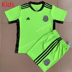 2021-2022 Mexico Goalkeeper Green Kids/Youth Soccer Uniform-AY