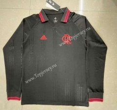 Retro Version Flamengo Black LS Thailand Soccer Jersey AAA-818