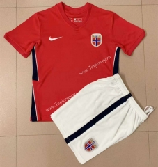2021-2022 Norway Home Red Soccer Uniform -AY