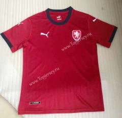 2021-2022 Czech Republic Home Red Thailand Soccer Jersey AAA-HR