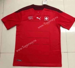 2021-2022 Switzerland Home Red Thailand Soccer Jersey AAA-HR
