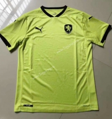 2021-2022 Czech Republic Away Fluorescent Green Thailand Soccer Jersey AAA-HR