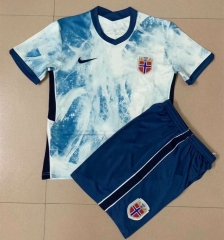 2021-2022 Norway Away Light Blue Soccer Uniform -AY