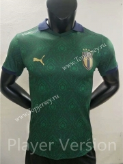 Player Version 2021-2022 Italy 2nd Away Green Thailand Soccer Jersey AAA