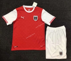 2021-2022 Austria Home Red Soccer Uniform