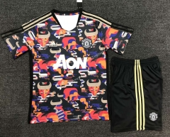 2021-2022 Special Version Manchester United Red&Black Soccer Uniform