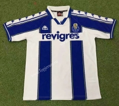 Retro Version 97-99 Porto Home Blue&White Thailand Soccer Jersey AAA-503