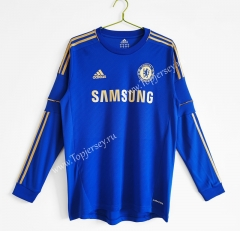 Retro Version 2012-2013 Chelsea Home Blue LS Thailand Soccer Jersey AAA-C1046
