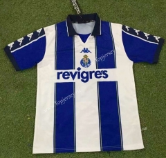 Retro Version 99-00 Porto Home Blue&White Thailand Soccer Jersey AAA-503
