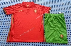 2021-2022 Portugal Home Red Soccer Uniform-709