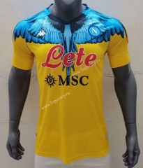 2021-2022 Joint Version Napoli Yellow Thailand Soccer Jersey AAA-416