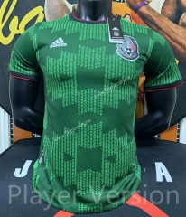 Player Version 2021-2022 Mexico Away Green Thailand Soccer Jersey AAA