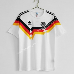 Retro Version 1990 Germany Home White Thailand Soccer Jersey AAA-C1046