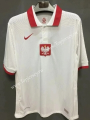 Player Version 2021-2022 Poland Home White Thailand Soccer Jersey AAA