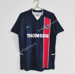 Retro Version 2002-2003 Paris SG Home Blue Thailand Soccer Jersey AAA-C1046