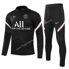 Player Version 2021-2022 PSG Black Kids/Youth Soccer Tracksuit -GDP