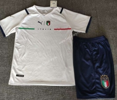 2021-2022 Italy Away White Soccer Uniform