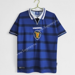 Retro Version 1998-2000 Scotland Home Royal Blue Thailand Soccer Jersey AAA-C1046