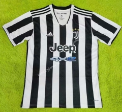2021-2022 Juventus Home Black&White Thailand Soccer Jersey AAA-503
