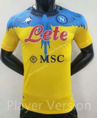 Player Version 2021-2022 Joint Version Napoli Yellow Thailand Soccer Jersey AAA