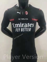 Player Version 2021-2022 AC Milan Away Black Thailand Soccer Jersey AAA
