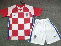2021-2022 Croatia Home Red & White Soccer Uniform