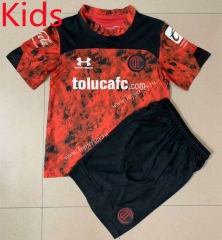 2021-2022 Deportivo Toluca FC Home Red Kids/Youth Soccer Uniform -AY