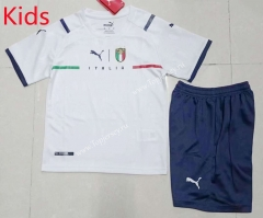 2021-2022 Italy Away White Kids/Youth Soccer Uniform