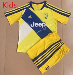 2021-2022 Juventus Yellow Kids/Youth Soccer Uniform-AY