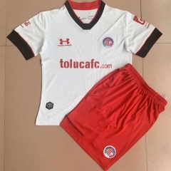 2021-2022 Deportivo Toluca FC Away White Soccer Uniform -AY