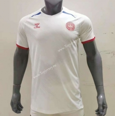 2021-2022 Denmark Away White Thailand Soccer Jersey AAA-416