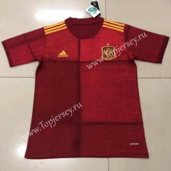 2020 European Cup Spain Home Red Thailand Soccer Jersey AAA