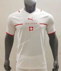 2021-2022 Switzerland Away White Thailand Soccer Jersey AAA-416