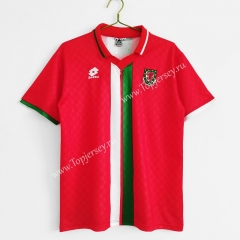 Retro Version 1996-1998 Wales Home Red Thailand Soccer Jersey AAA-C1046