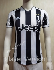 Player Version 2021-2022 Juventus Home Black&White Thailand Soccer Jersey AAA-807