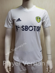 Player Version 2021-2022 Leeds United Home White Thailand Soccer Jersey AAA-807