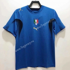 Retro Version 06 Italy Home Blue Thailand Soccer Jersey AAA-811