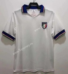 Retro Version 82 Italy Away White Thailand Soccer Jersey AAA-811