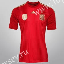 Retro Version 2014 Spain Home Red Thailand Soccer Jersey AAA