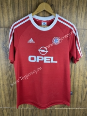 Retro Version 2000-2001 Bayern München Home Red Thailand Soccer Jersey AAA-SL