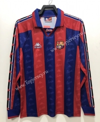 Retro Version 96-97 Barcelona Home Red&Blue LS Thailand Soccer Jersey AAA-811