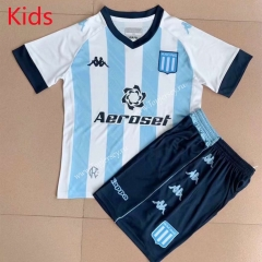 2021-2022 Racing Club de Avellaneda Home Blue&White Kid/Youth Soccer Uniform-AY