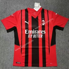 2021-2022 AC Milan Home Red&Black Thailand Soccer Jersey AAA
