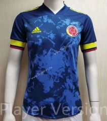 Player Version 2021-2022 Colombia Away Blue Thailand Soccer Jersey AAA-807