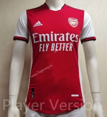 Player Version 2021-2022 Arsenal Home Red Thailand Soccer Jersey AAA-807