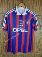 Retro Version 95-97 Bayern München Home Red&Blue Thailand Soccer Jersey AAA-811